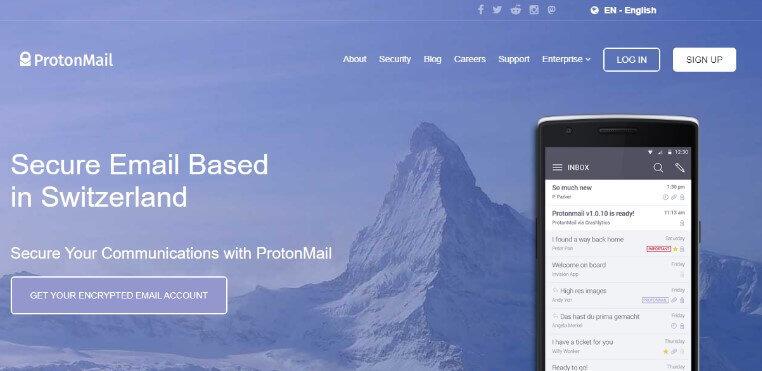 provedor de e-mail ProntoMail